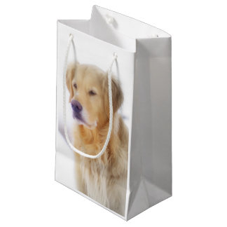 Golden Retriever in the Snow Small Gift Bag