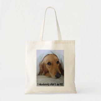 Golden Retriever, Innocent!! Budget Tote Bag
