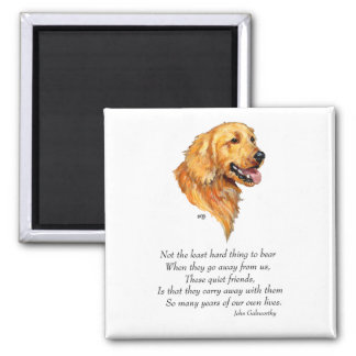 Golden Retriever Keepsake Magnet