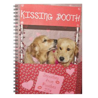 Golden Retriever Kissing Booth Notebook
