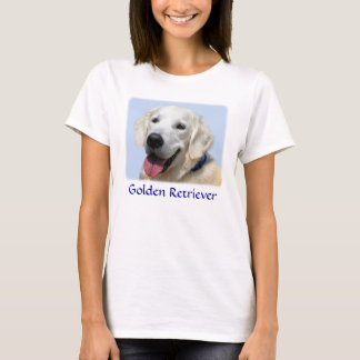 Golden Retriever Ladies Baby Doll Fit  Tee Shirt