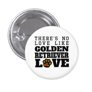 Golden Retriever Love 3 Cm Round Badge