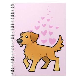 Golden Retriever Love Note Book