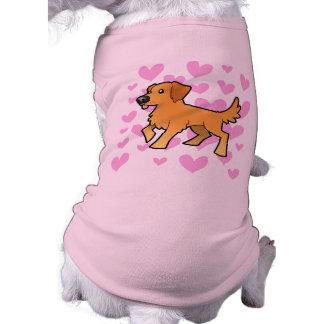 Golden Retriever Love Sleeveless Dog Shirt