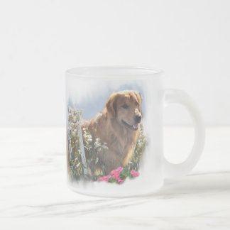 Golden Retriever Lovers Gifts Frosted Glass Mug
