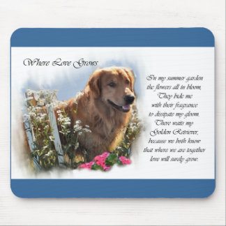 Golden Retriever Lovers Gifts Mouse Pad