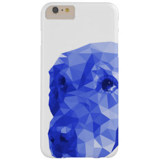 Golden Retriever Low Poly Art in Blue Barely There iPhone 6 Plus Case
