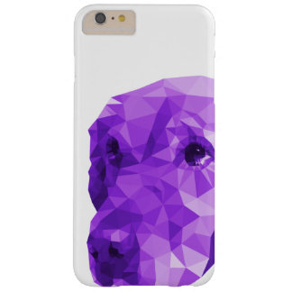 Golden Retriever Low Poly Art in Purple Barely There iPhone 6 Plus Case