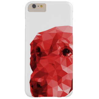 Golden Retriever Low Poly Art in Red Barely There iPhone 6 Plus Case