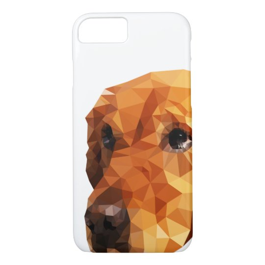 Golden Retriever Low Poly Art iPhone 8/7 Case