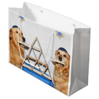 Golden Retriever Matzo Fun Passover Large Gift Bag