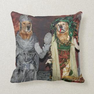 Golden Retriever Medusa and Stone Soldier Cushion
