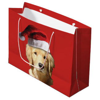 Golden Retriever Merry Christmas Gift Bag