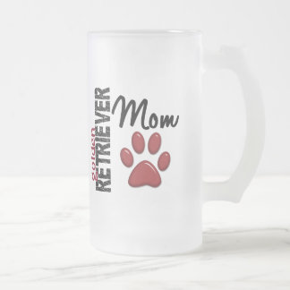 Golden Retriever Mom 2 Frosted Glass Mug
