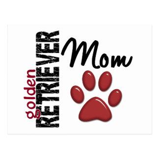 Golden Retriever Mom 2 Postcard