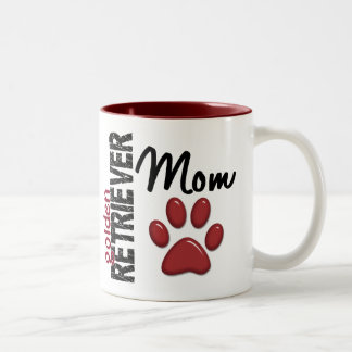 Golden Retriever Mom 2 Two-Tone Mug