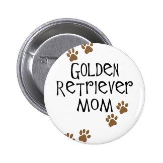 Golden Retriever Mom 6 Cm Round Badge