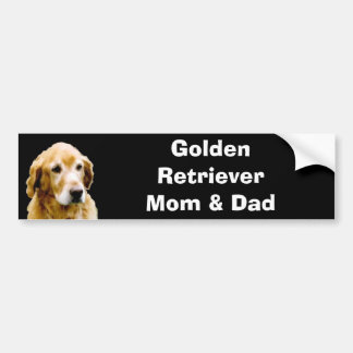 Golden Retriever Mom & Dad Bumper Sticker