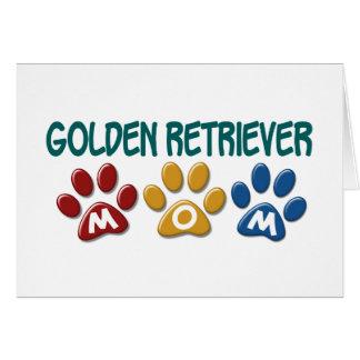 GOLDEN RETRIEVER Mom Paw Print 1 Greeting Card