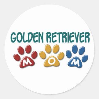 GOLDEN RETRIEVER Mom Paw Print 1 Classic Round Sticker