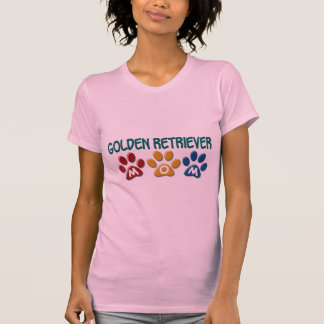 GOLDEN RETRIEVER Mom Paw Print 1 Tee Shirt