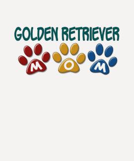 GOLDEN RETRIEVER Mom Paw Print 1 Shirts