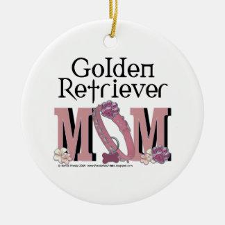 Golden Retriever MOM Round Ceramic Decoration