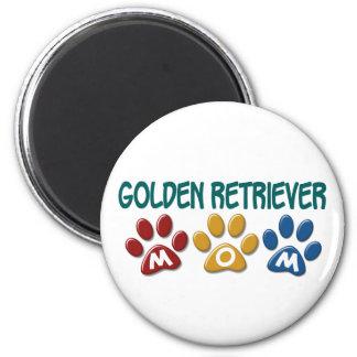GOLDEN RETRIEVER Mum Paw Print 1 Refrigerator Magnets
