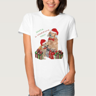 "Golden Retriever ""Naughty Or Nice""  T-shirts"