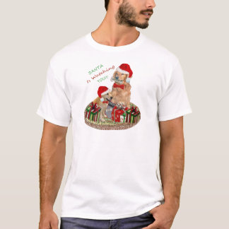 "Golden Retriever ""Naughty Or Nice""  T-shirts"
