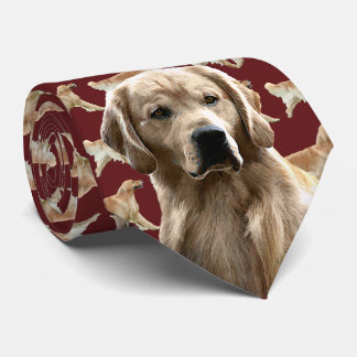 Golden Retriever Neck Tie - Burgandy
