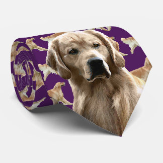 Golden Retriever Neck Tie - Dark Purple