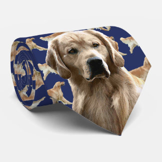 Golden Retriever Neck Tie - Navy