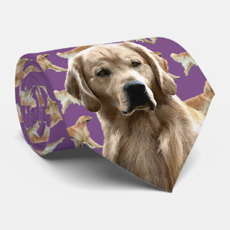 Golden Retriever Neck Tie - Purple