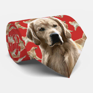 Golden Retriever Neck Tie - Red