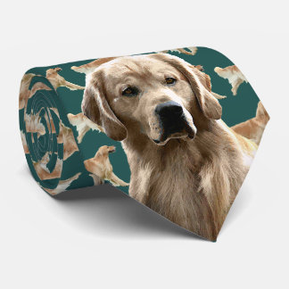 Golden Retriever Neck Tie - Teal
