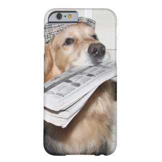 Golden Retriever Newsboy Barely There iPhone 6 Case