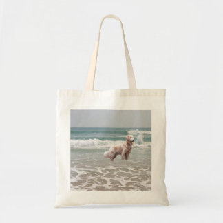 Golden Retriever Ocean In Motion Tote Bag