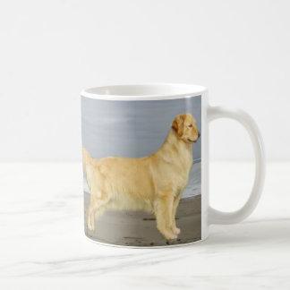 Golden Retriever On The Beach Mug