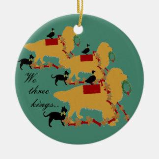 Golden Retriever Ornament~ We three Kings Christmas Ornament