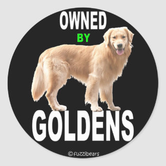 Golden Retriever 'Owned By Goldens' black sticker