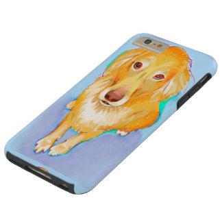 Golden retriever painting fun pet portrait dog art tough iPhone 6 plus case
