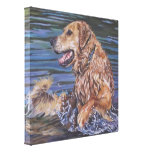 golden retriever  Painting on Wrapped Canvas Gallery Wrapped Canvas