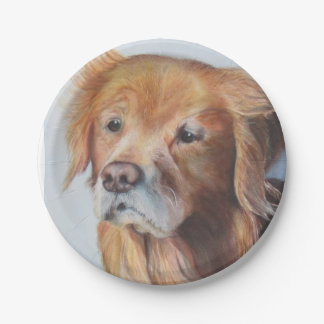Golden Retriever Paper Plates for the dog lover 7 Inch Paper Plate