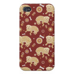 Golden Retriever Pattern Cover For iPhone 4