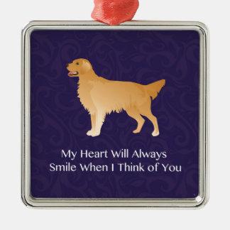 Golden Retriever - Pet Memorial- Thinking of You Christmas Ornament