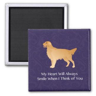 Golden Retriever - Pet Memorial- Thinking of You Square Magnet