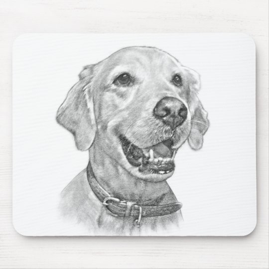 Golden Retriever Portrait Mouse Mat