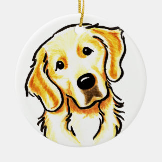 Golden Retriever Portrait Personalized Christmas Ornament