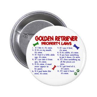 Golden Retriever Property Laws 2 6 Cm Round Badge